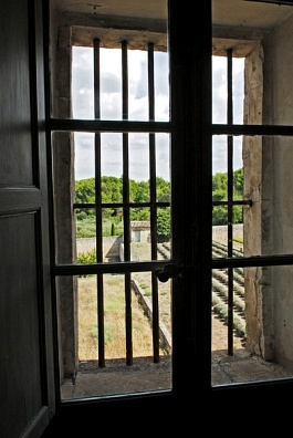 view through barred window