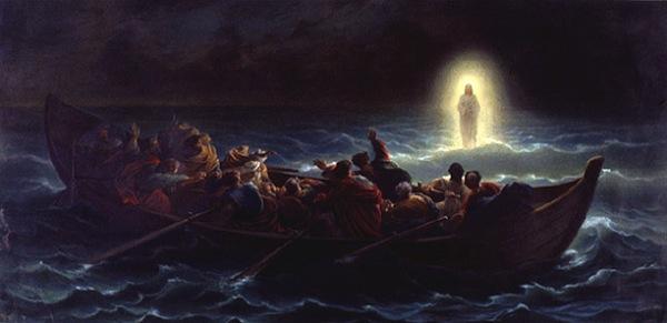 Christ Walking on the Water Amedee Varin, 19th Century